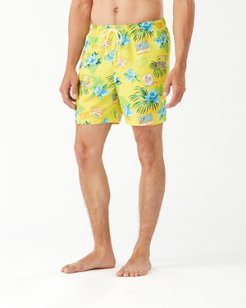 Naples Aloha From Paradise 6-Inch Swim Trunks