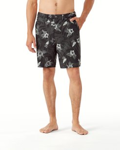 Cayman Midnight Hibiscus IslandZone® 9-Inch Board Shorts