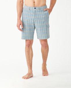 Cayman Ciudad Check 10-Inch Cargo Shorts