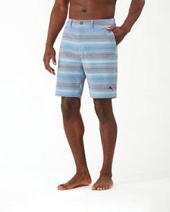 Cayman Bluewater Stripe IslandActive® 9-Inch Hybrid Board Shorts