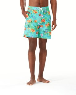 Baja Aloha From Paradise 9-Inch Board Shorts