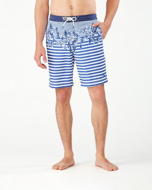 Baja Nautical Bloom 9-Inch Board Shorts