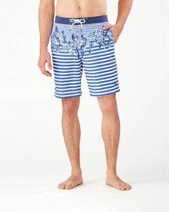 Baja Nautical Bloom 9-Inch Board Shorts