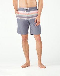 Baja Sanders Beach Stripe 9-Inch Board Shorts