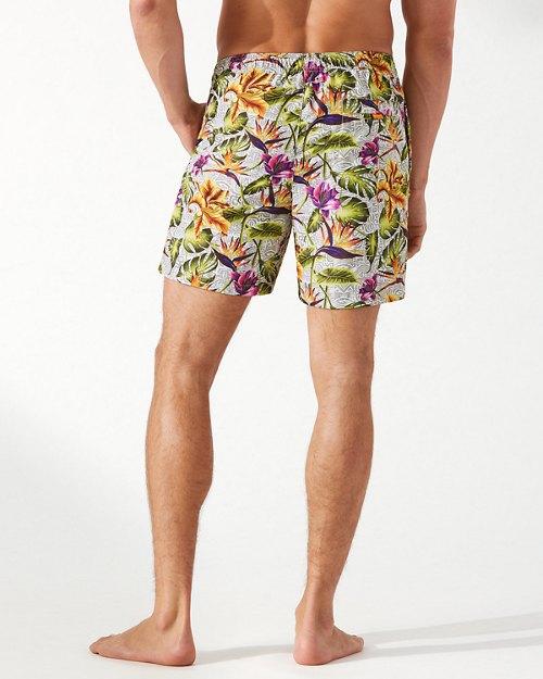 Naples Tikis In The Tropics 6-Inch Swim Trunks