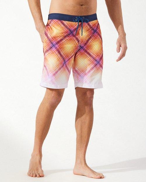 Baja Fadeaway Plaid 9-Inch Board Shorts
