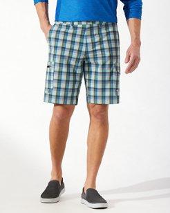 Cayman Lanai Plaid 10-Inch Cargo Shorts