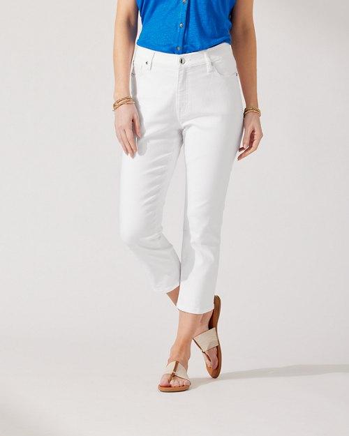 Ella Twill High-Rise Cropped Jeans