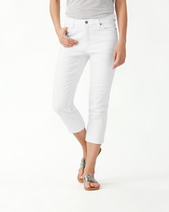 Ella Twill High-Rise Cropped Jeans
