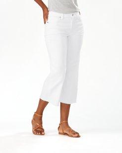 Ella Twill Wide Leg Cropped Jeans