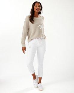 Ella Twill Sequin Slim Boyfriend Jeans