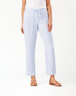 Tamil Stripe Linen Pants