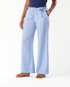 Desert Weave Linen-Blend Pants