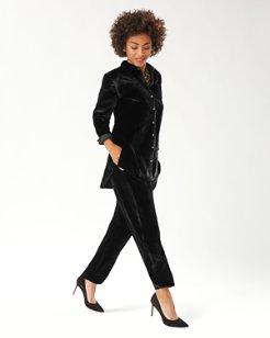 Velvet Sands Silk-Blend Pants