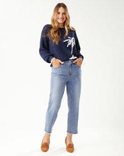 Boracay Indigo Straight Raw-Hem Jeans
