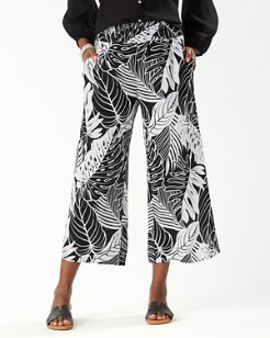 Just Leafy Smocked Cropped Pants