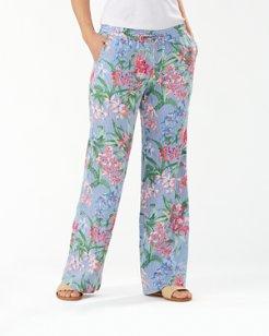 Orchid Isle Stripe Linen Easy Pants