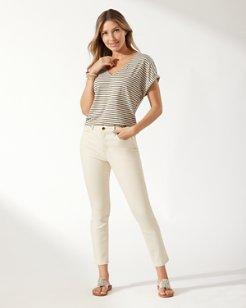 Boracay Bull Denim High-Rise Ankle Jeans