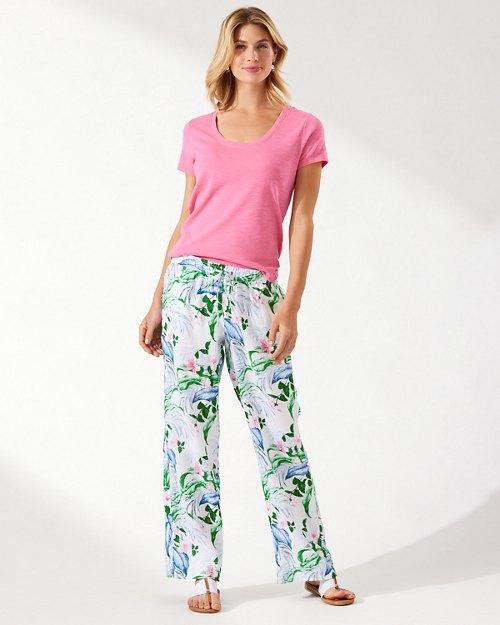 Flora Frond Linen Pant