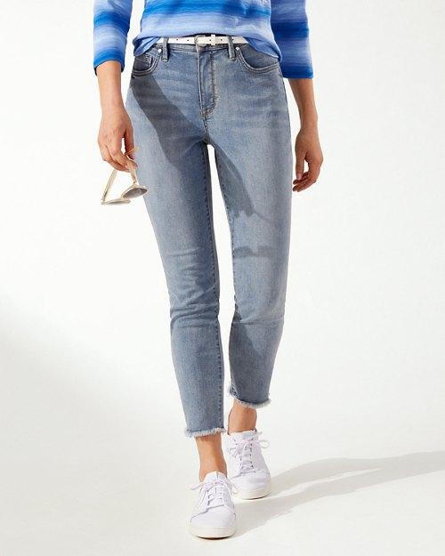Boracay Indigo Raw High-Rise Ankle Jeans