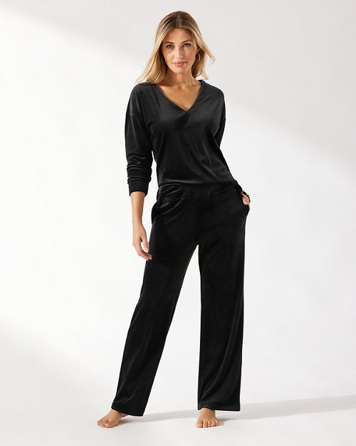 Velour Relaxed Pants