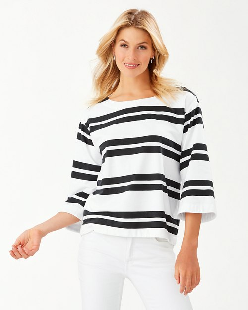 French Terrace Bell-Sleeve Popover