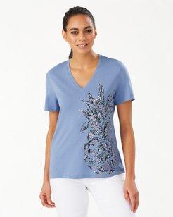 Karla Geo Pineapple V-Neck T-Shirt