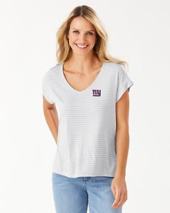 NFL Cassia Stripe Sealight V-Neck T-Shirt