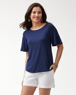 Sealight Flutter Sleeve Top