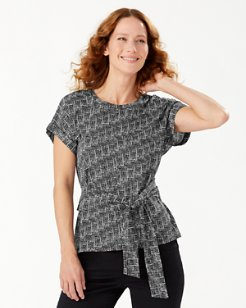 Cross Roads Tie-Front Top