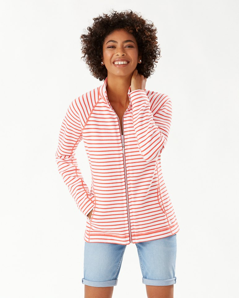 Main Image for New Aruba Striped Full-Zip Sweatshirt
