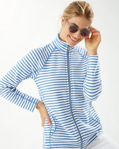 New Aruba Striped Full-Zip Sweatshirt
