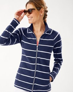 New Aruba Seema Stripe Full-Zip Sweatshirt