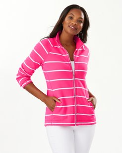 New Aruba Seema Stripe Full-Zip Sweatshirt