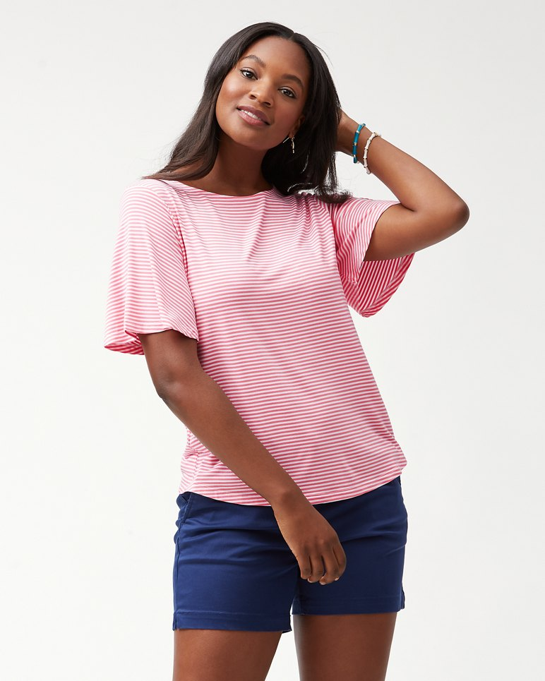 Main Image for Sealight Flutter Sleeve Stripe Top