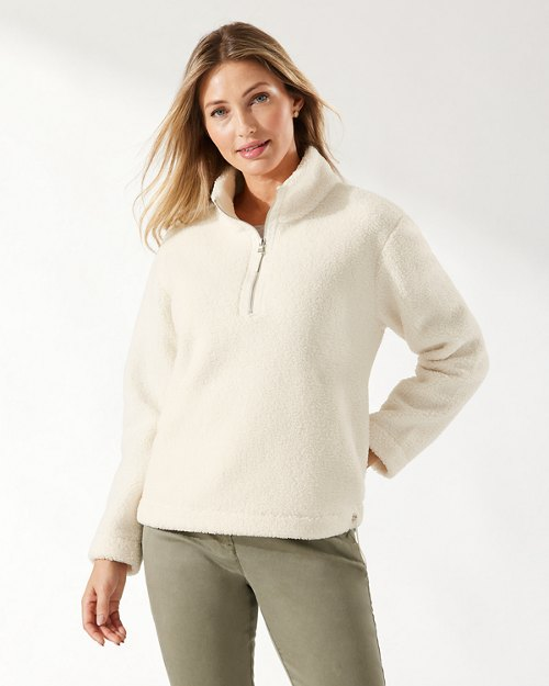 Salma Sherpa Quarter-Zip Sweatshirt