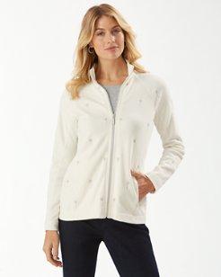 Mazua Mini Palms Aruba Embroidered Full-Zip Sweatshirt