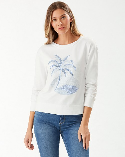 Montego Bay Raw Edge Crewneck Sweatshirt