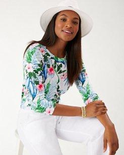 Ashby Flora Frond 3/4-Sleeve T-Shirt