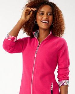 Hermosa Floral Detail Aruba Full-Zip Sweatshirt