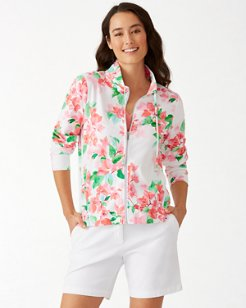 Bougainvillea Bliss Martinique Full-Zip Sweatshirt