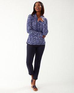 Leopard IslandZone® Cowl-Neck Pullover