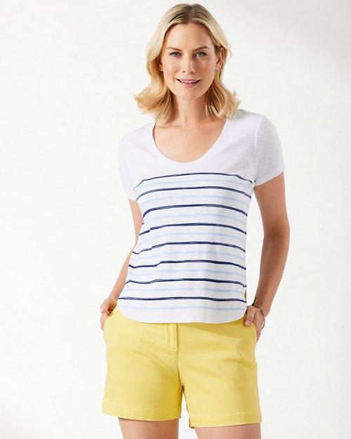 Ashby Moana Stripe Short-Sleeve T-Shirt