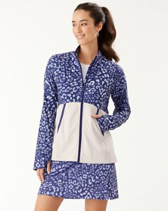 Ariana Leopard Leisure IslandZone® Full-Zip Sweatshirt