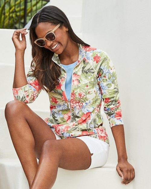 Hibiscus Aruba Full-Zip Sweatshirt