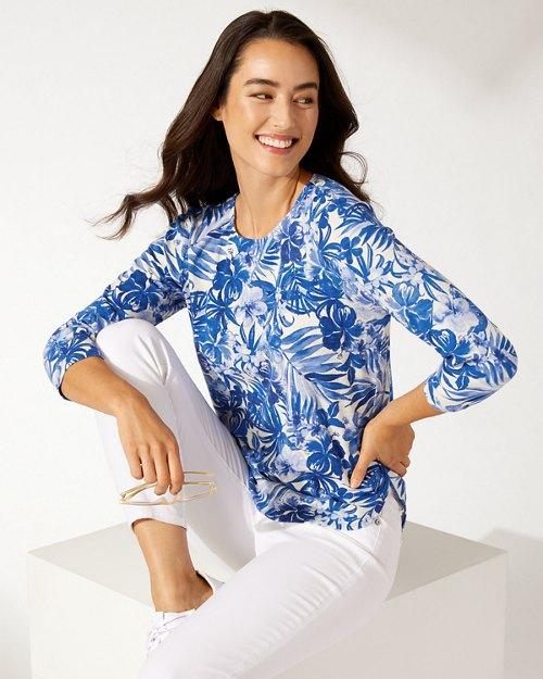 Ashby Tropicamo 3/4-Sleeve T-Shirt