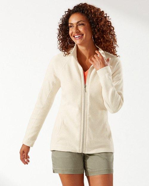 Aruba Palm Embroidered Full-Zip Sweatshirt