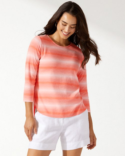 Ashby Ombré Stripe 3/4-Sleeve T-Shirt