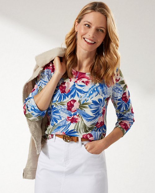 Ashby Floral Intent 3/4-Sleeve T-Shirt
