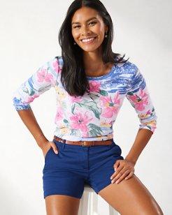 Ashby Waikiki Waves 3/4-Sleeve T-Shirt